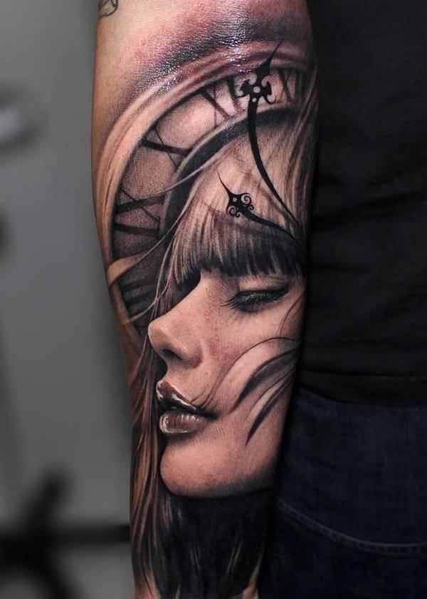 Face Sleeve Tattoo: 35+ Coolest Sleeve Tattoos Design Portrait